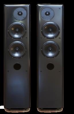 Colonne vintage laque façade-enceinte-acoustique-haute-fidelite-gamme-laque