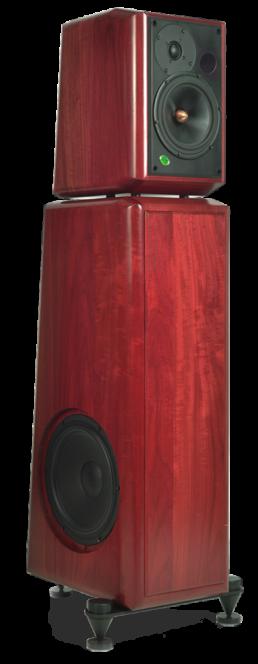grand monitor standard-gamme-massif-face trois-quart-enceinte acoustique active haut de gamme