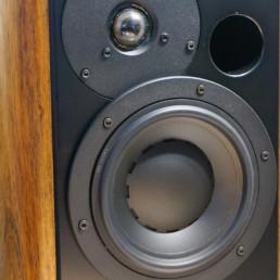 ASA Enceintes acoustiques Monitor Pro bois massif détail haut parleur-haute fidelite